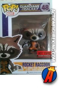 Funko Pop! Marvel Rocket Raccoon Hot Topic exclusive vinyl figure.