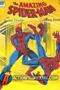 1976 Spider-Man Seeing Double coloring book from Whitman.