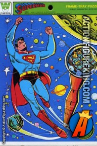Vintage Whitman Superman saving astronauts in space 15 piece frame-tray puzzle from 1966.