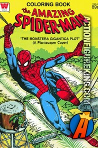The Amazing Spider-Man: The Monstera Gigantica Plot coloring book.