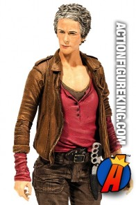 A detaield view of this Series 6 Walking Dead Carol Peletier action figure from McFarlane Toys.
