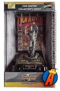 Pewter Comic Book Champions Human Torch figure.