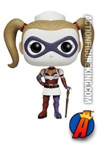 Funko Pop! Heroes Arkham Asylum Harley Quinn vinyl bobblehead figure.