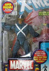 Marvel Legends Sentinel Series 10 X-Factor Cyclops Variant Figure.