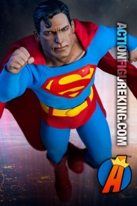Sideshow Collectibles Sixth-Scale Superman action figure with highly detailed outfit.