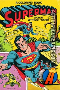 Superman World Without Water coloring and activity book from Whitman.
