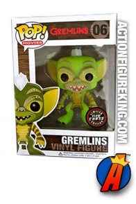 Funko Pop! Movies Gremlins variant Stripe glow-in-the-dark vinyl figure.