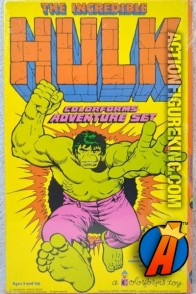 Hulk Adventure Playset from Colorforms circa 1979.