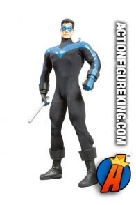 13 inch DC Direct fully articulated Nightwing action figure with authentic fabric outfit.