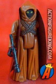 Vintage Star Wars Jawa action figure (vinyl cape version) from Kenner circa 1978.