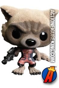 Funko Pop! Marvel GOTG Variant Flocked ROCKET RACCOON Figure.