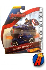 Avengers Age of Ultron Captain America cycle from Hot Wheels.