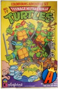 Teenage Mutant Ninja Turtles Colorforms Set circa 1989.