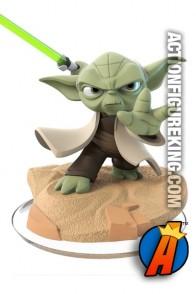 Disney Infinity 3.0 Star Wars Yoda figure and gamepiece.