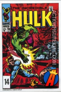 14 of 24 from the 1978 Drake's Cakes Hulk comics cover series.