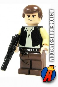 LEGO STAR WARS HAN SOLO minifigure with brown pants.