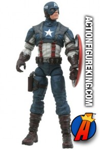 Fully articulated Marvel Select Captain America the First Avenger movie action figure from Diamond Select Toys.