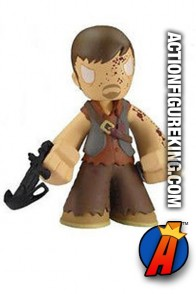 The Walking Dead Mystery Minis variant Bloody Daryl Dixon bobblehead figure.
