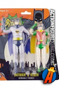 NJ Croce Batman and Robin Classic TV Series Bendable Figures.