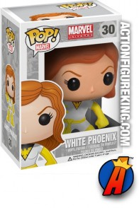 A packaged sample of this Funko Pop! Marvel White Phoenix vinyl figure.