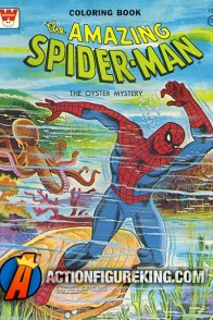 Spider-Man 1976 The Oyster Mystery Coloring Book from Whitman.