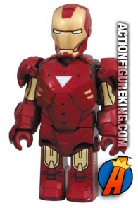 Minature Medicom Kubrick articulated Iron Man Mark VI action figure.