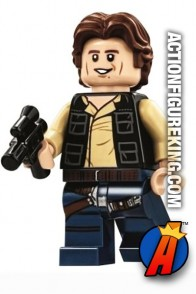 LEGO STAR WARS Death Star HAN SOLO Minifigure with wavy hair.
