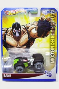 Batman villain Bane as a die-cast vehicle from Hot Wheels circa 2012.