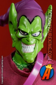 8 Inch Famous Cover Series Green Goblin action figure with removable fabric outfit from Toybiz.