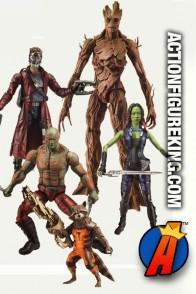 Guardians of the Galaxy Marvel Platinum Legends series one action figures.