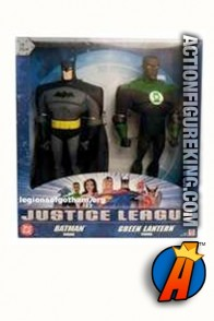 Justice League Animated series 10-inch scale Batman and Green Lantern roto figures.