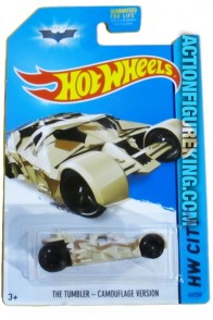 Batman Camouflage Tumbler die-cast vehicle from Hot Wheels circa 2014.