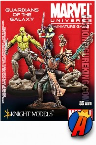 Marvel Universe 35mm GUARDIANS OF THE GALAXY Metal Figures from Knight Models.