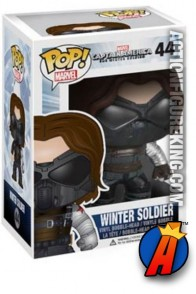 A pacakged sample of this Funko Pop! Marvel Winter Soldier masked vinyl bobblehead figure.