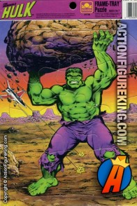 1990 The Incredible Hulk 12-piece frame-tray puzzle from Golden.