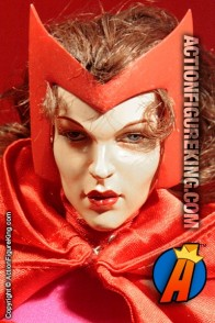 Highly detailed custom sixth-scale Scarlet Witch action figure.