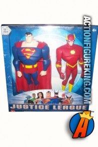 Justice League Animated series Superman and Flash roto figures from Mattel.