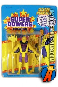 Vintage Kenner Super Powers Golden Paraoh action figure.