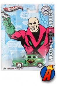 Lex Luthor 1950s Chevy die-cast vehicle from Hot Wheels.