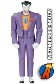 Full view of this Joker animated figure from DC Collectibles.