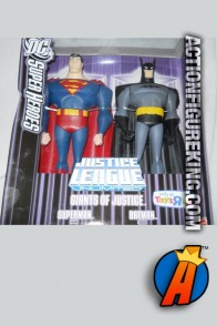Toys R Us exclusive Batman and Superman 10-inch roto figures.
