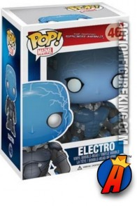 A packaged sample of this Funko Pop! Marvel Electro vinly bobblehead action figure.