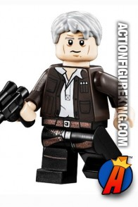 LEGO STAR WARS Millenium Falcon HAN SOLO with Gray Hair Minifigure.