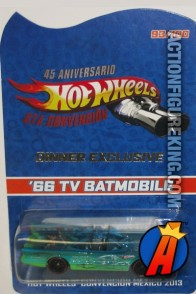 Limited Edition 2014 Mexico convention Batmobile exclusive from Hot Wheels.