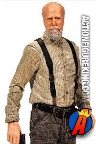 A detaield view of this Series 6 Walking Dead Hershel Greene action figure from McFarlane Toys.