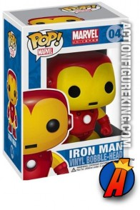 A packaged sample of this Funko Pop! Marvel Iron Man vinyl figure number 4.