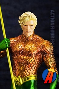 JUSTOCE LEAGUE Kotobukiya NEW 52 AQUAMAN ArtFX Statue.