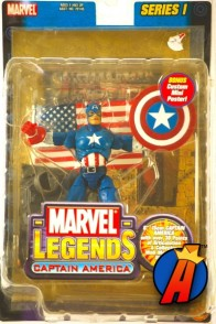 Marvel Legends Series 1 Captain America action figure from Toybiz.