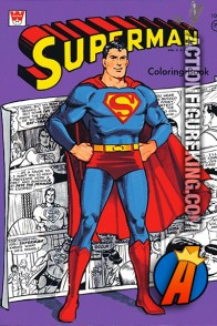 Front cover from this vintage 1966 Superman Coloring book by Whitman.
