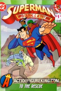 1997 Superman to the Rescue activity book from Landoll's.
